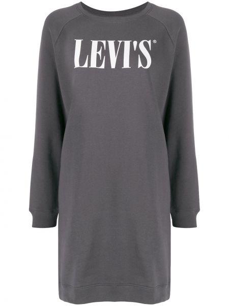 Платье серое в рубчик Levi's®