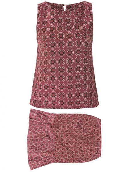 Прямая фиолетовая юбка винтажная с вырезом Chanel Pre-owned
