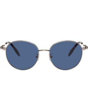 Okulary przeciwsłoneczne czarny srebro Alexander Mcqueen