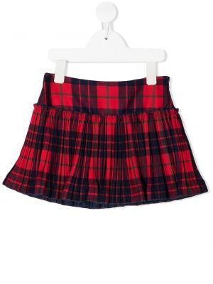 Расклешенная красная юбка Il Gufo