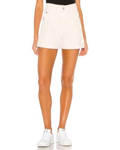 Biały bawełna bawełna krótkie szorty z kieszeniami Re/done