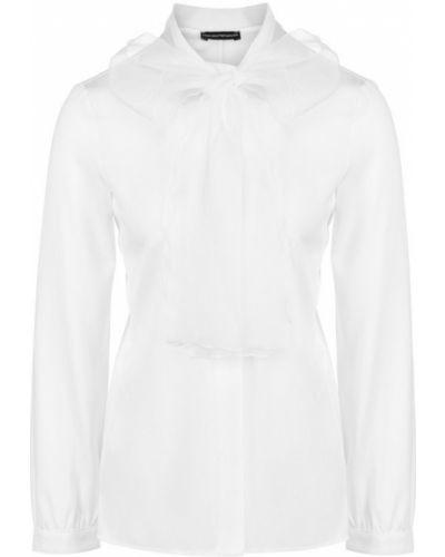 Блузка шелковая с воротником Emporio Armani