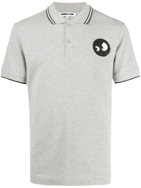 Czarna koszula krótki rękaw bawełniana Mcq Alexander Mcqueen