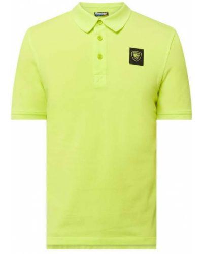 Żółty t-shirt bawełniany Blauer Usa