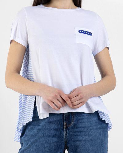 Хлопковая белая футболка Sfizio