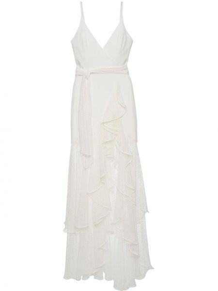 Тонкое платье на бретелях с V-образным вырезом с оборками Patbo