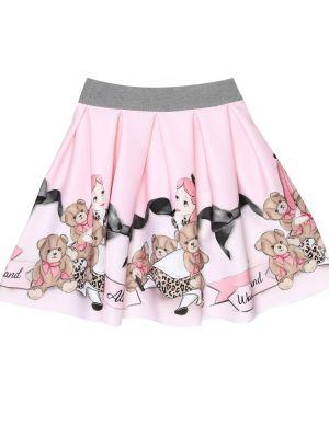 Мягкая розовая юбка Monnalisa