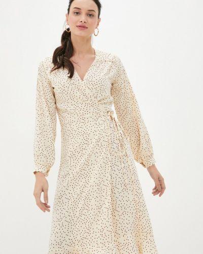 Бежевое платье с запахом Imocean