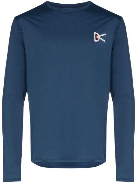 Спортивная синяя спортивная футболка с круглым вырезом круглая District Vision