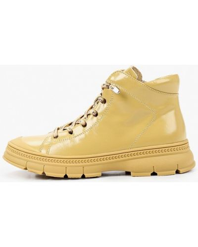 Желтые кожаные ботинки Berkonty