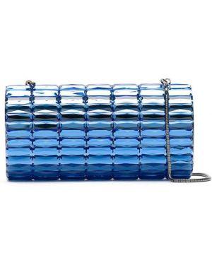 Синяя сумка металлическая Isla