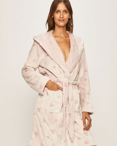 Халат с капюшоном розовый Henderson Ladies