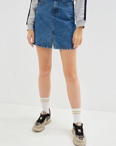 Джинсовая юбка синяя Jacqueline De Yong