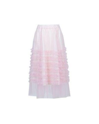 Розовая юбка миди P.a.r.o.s.h.