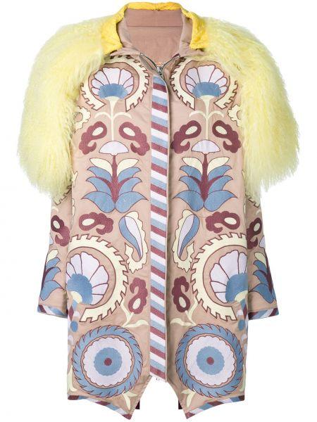 Пальто с вышивкой Yuliya Magdych