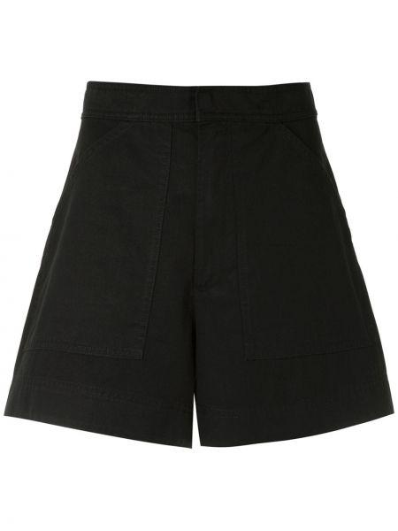 Черные шорты с карманами на пуговицах с высокой посадкой Osklen