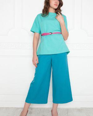 Блузка с поясом льняная Lautus