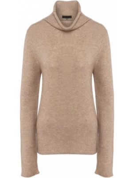Бежевый кашемировый свитер Tegin