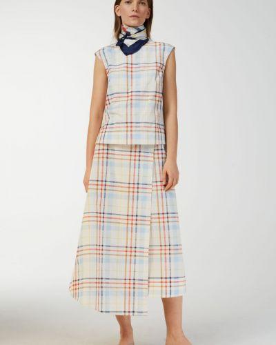Шелковая юбка миди Arket
