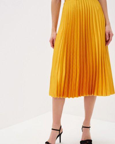 Плиссированная юбка желтый турецкий Mango