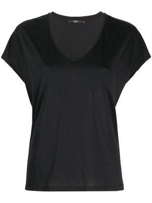 Хлопковая с рукавами черная футболка Seventy