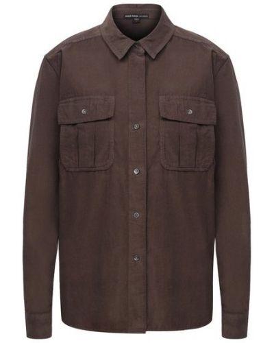 Хлопковая зеленая блузка James Perse