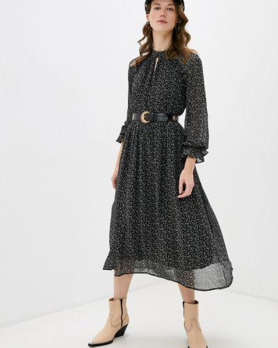 Прямое черное платье B.young