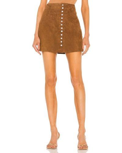 Кожаная юбка - коричневая [blanknyc]