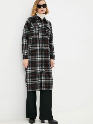 Черное зимнее пальто Fresh Cotton