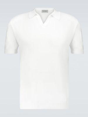 Хлопковая белая рубашка с воротником John Smedley