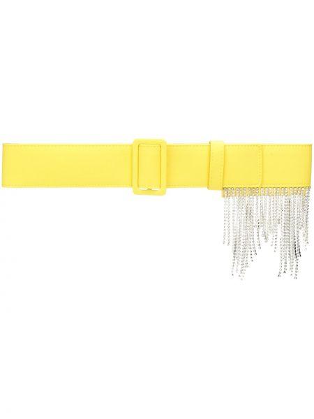 Żółty pasek z paskiem klamry Msgm
