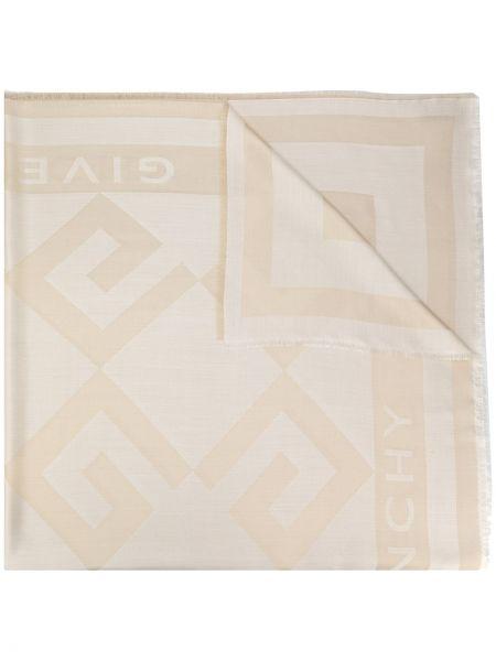 Jedwab beżowy szalik przycięte Givenchy