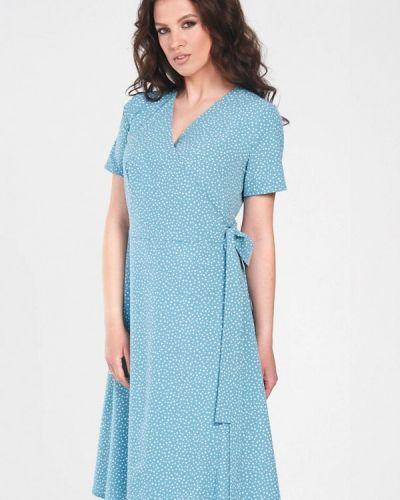 Бирюзовое весеннее платье Prima Linea