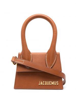 Кожаная коричневая маленькая сумка Jacquemus