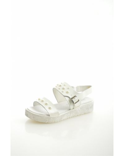 Босоножки белые на каблуке O`shade