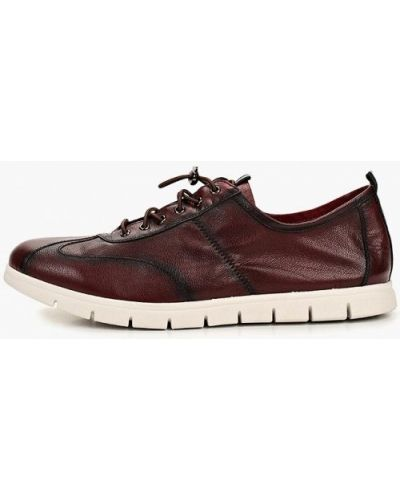 Кожаные ботинки бордовый демисезонный Kruzo