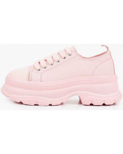 Текстильные розовые кроссовки Escan