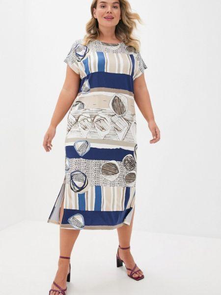 Бежевое повседневное платье Griol