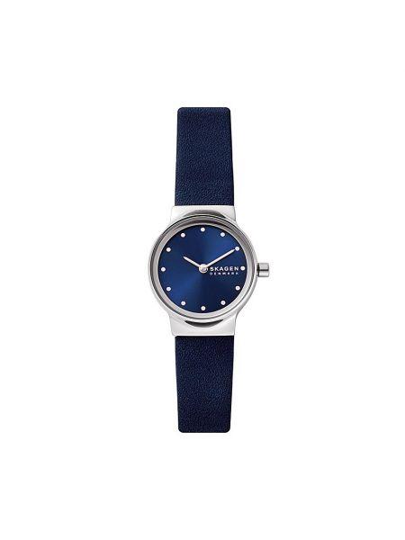 Zegarek srebrny granatowy Skagen