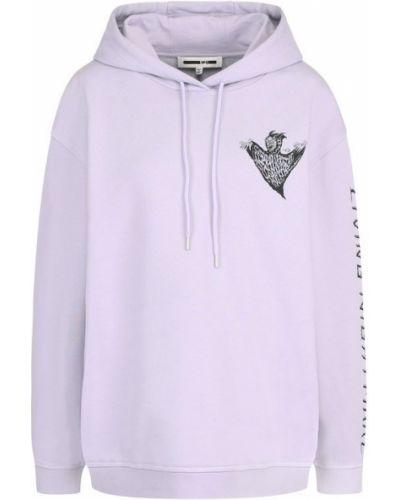 Фиолетовый свитер с капюшоном Mcq