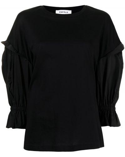 Sweter bawełniany - czarny Enfold