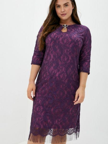 Повседневное фиолетовое повседневное платье Blagof