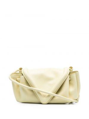 Żółta torebka crossbody skórzana Bottega Veneta
