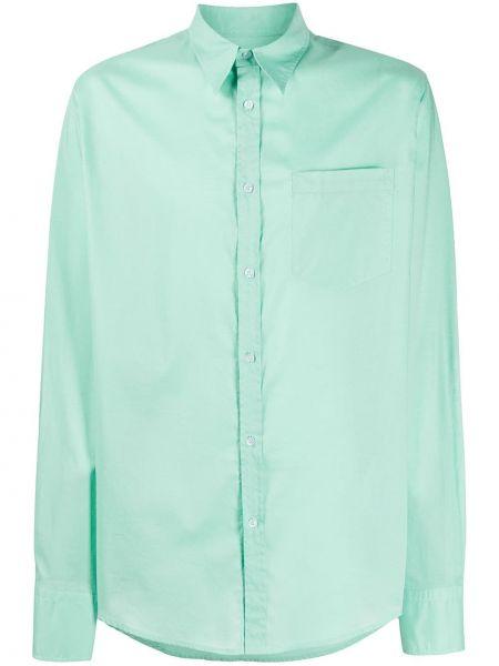 Zielona klasyczna koszula bawełniana z długimi rękawami Christian Pellizzari