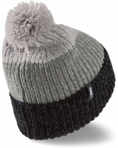 Трикотажная шапка бини - черная Puma