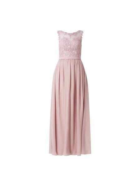 Różowa sukienka wieczorowa rozkloszowana tiulowa Mascara