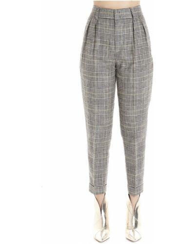 Lniane lniane spodnie - czarne Isabel Marant