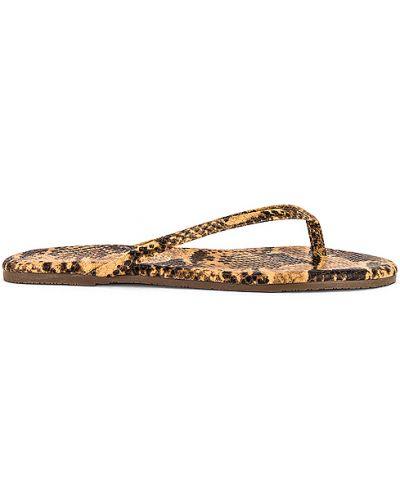Brązowe sandały skorzane Tkees
