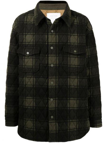 Czarna długa kurtka wełniana z długimi rękawami Readymade