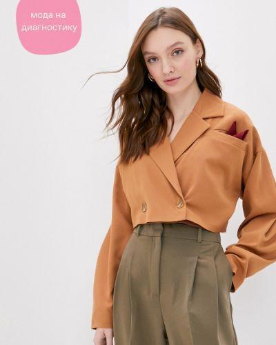 Брендовый коричневый пиджак Lipinskaya Brand